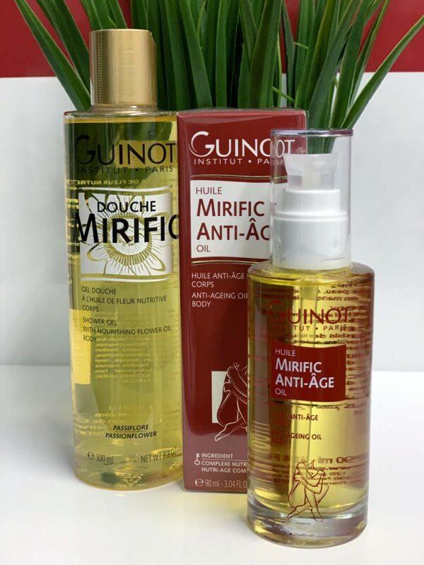 Guinot NEW Anti ageing Body Oil & Mirific Shower Gel